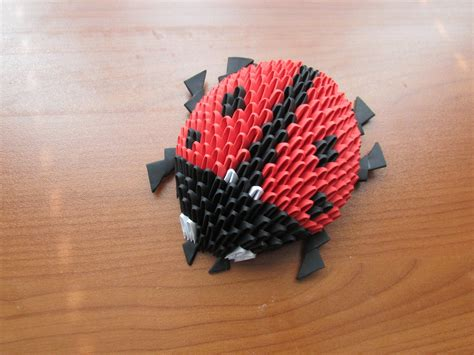 origami in 3d tutorial 3d origami lady bug tutorial pinteres