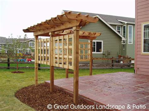 denver colorado landscaping pergolas