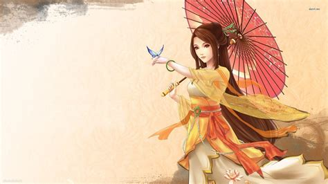 anime japanese girl wallpaper kimono wallpapers wallpaper cave