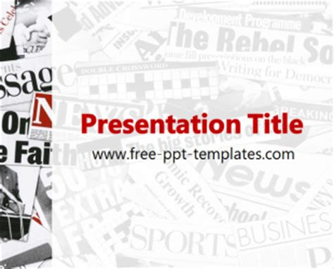 newspaper theme presentation newspaper ppt template free powerpoint templates