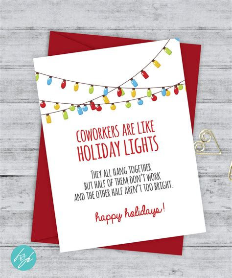 coworker card funny christmas card christmas card xmas card quirky snarky gree funny