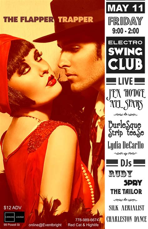 swing club vancouver the flapper trapper tickets fri 11 may 2012 at 9 00 pm