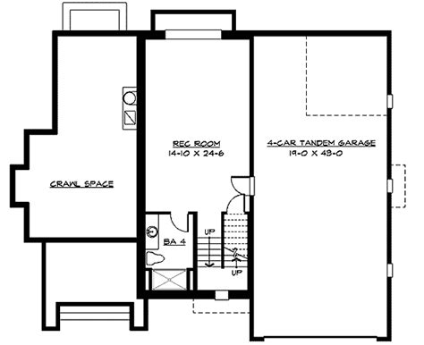 tandem garage plans 3 or 4 car tandem garage 23351jd 2nd floor master