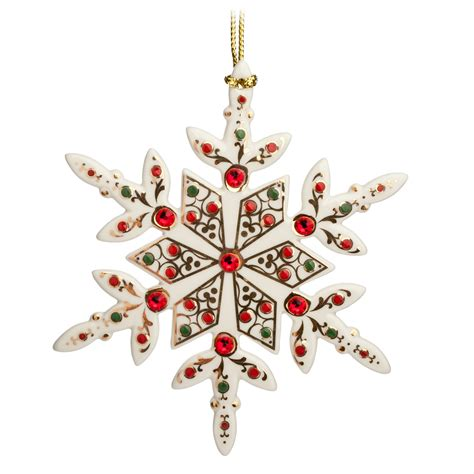 lenox twelve days of christmas snowflake ornaments lenox jewels snowflake ornament