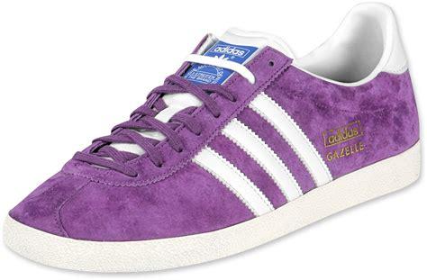 purple adidas sneakers adidas gazelle og shoes purple white