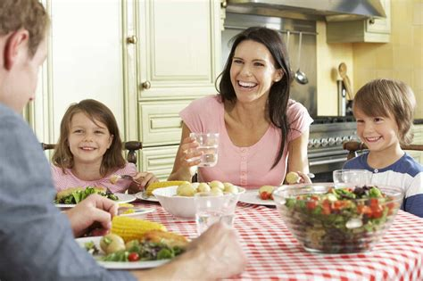 family in kitchen meal plan kitchen meets girl