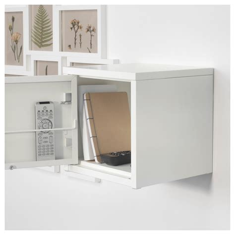 White Metal Cabinet by Lixhult Cabinet Metal White 25x25 Cm