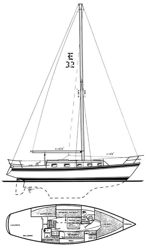 section 32 sle endeavour 32 sailboat specifications and details on