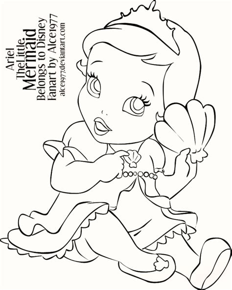 coloring page baby mermaid baby ariel the little mermaid coloring pages