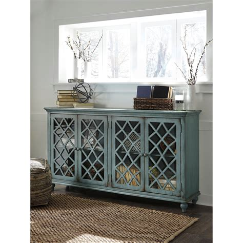 accent cabinets with doors lattice glass door accent cabinet in antique teal finish