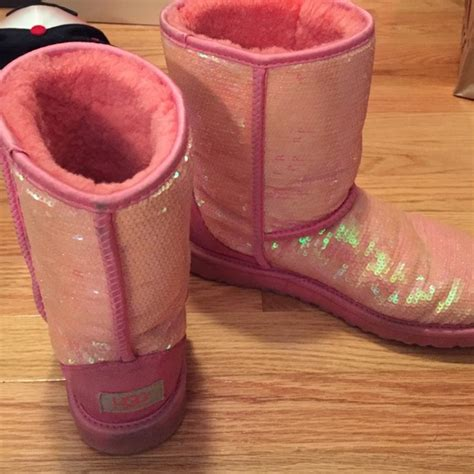 pink shoe cleaning crew 56 ugg shoes pink sparkly sequence uggs from