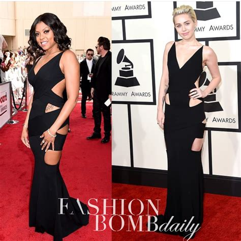 taraji p henson black dress cut out who wore it better taraji p henson vs miley cyrus in