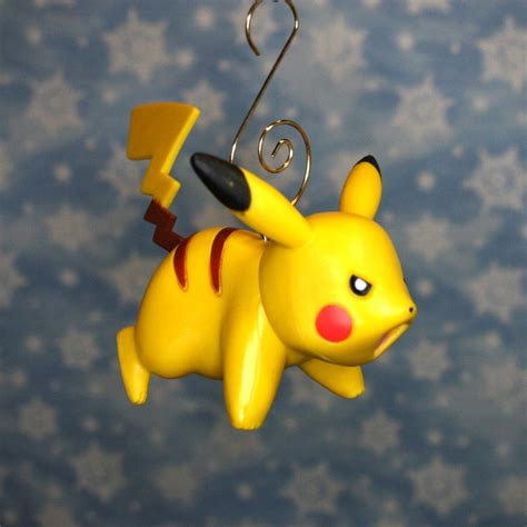 nintendo pokemon attacking pikachu christmas ornament