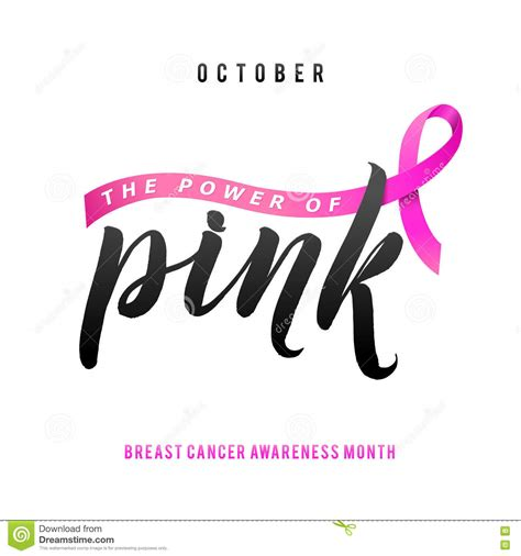typography stroke vector breast cancer awareness calligraphy poster design