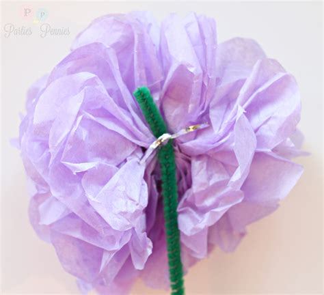 How To Make Tissue Paper Flowers Without Pipe Cleaners - how to make wisteria tissue paper flowers for