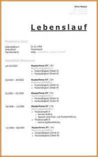 Bewerbungsschreiben Lebenslauf Tabellarisch 9 Lebenslauf Tabellarisch Muster Resignation Format