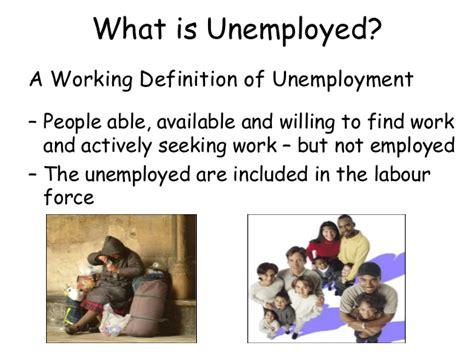 what iz unemployment causes of unemployment