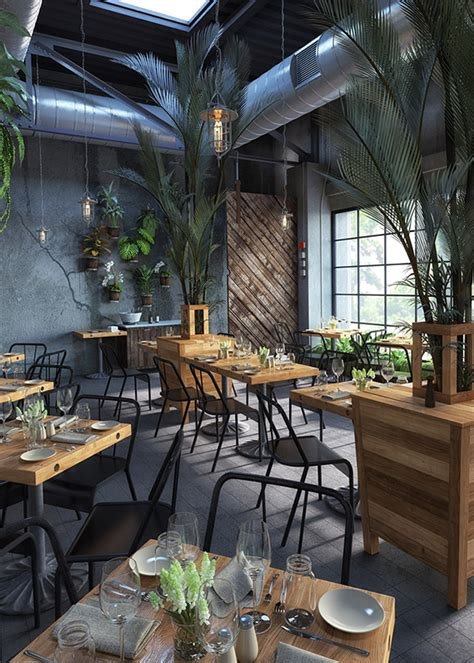 modern cafe design  behance