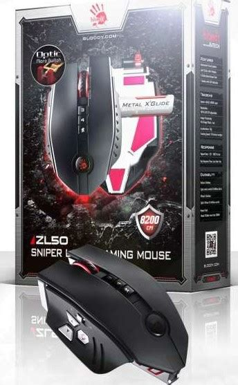 Mouse Macro A4tech Bloody a4tech bloody zl50 sniper laser gaming mouse with metal x