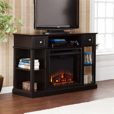 Electric Fireplace Media Console Dayton Electric Fireplace Media Console In Black Fe9395