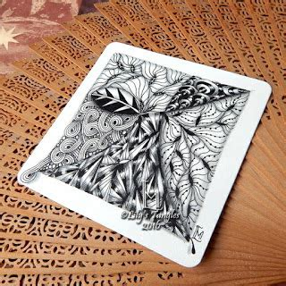 zentangle pattern yuma lily s tangles weekly tiles