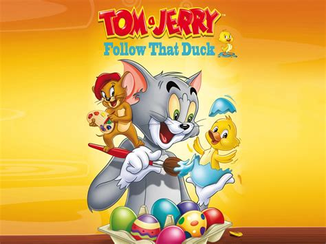 tom  jerry follow  duck hd wallpapers cartoons