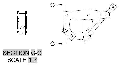 section line symbol autocad terimleri
