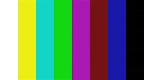 screen color test color bar tv