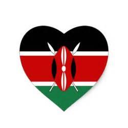 Kenya flag heart sticker zazzle