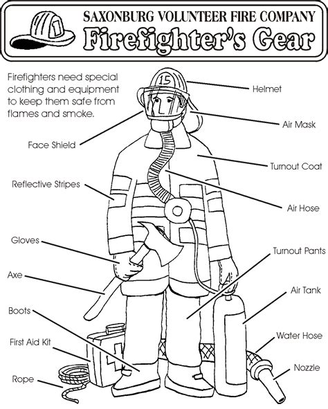 Fire Boots Coloring Pages Printable Coloring Pages Firefighters Coloring Pages