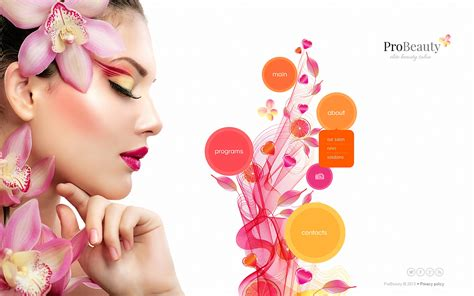 design banner kosmetik beauty salon website template 45344