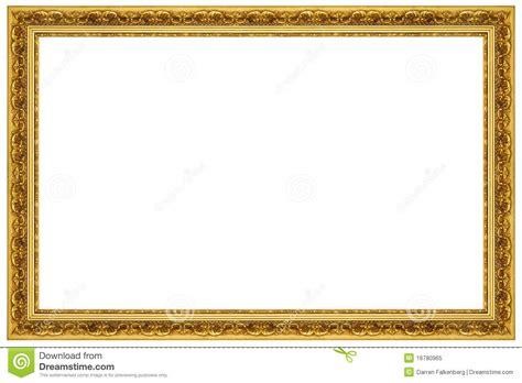 cornici oro cornice decorata dell oro fotografia stock libera da