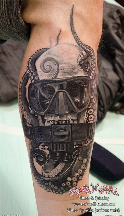 scuba tattoo designs skull diver tattoos photos boots
