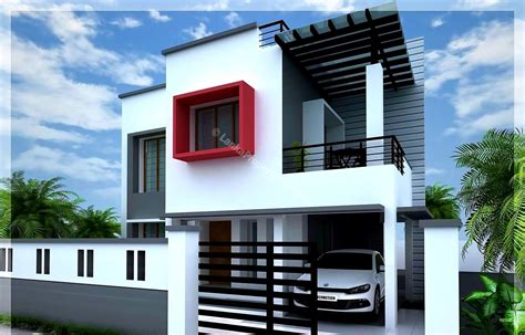 2 different 3d home elevations architecture house plans 4