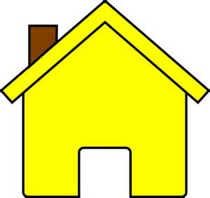 yellow house clip at clker vector clip
