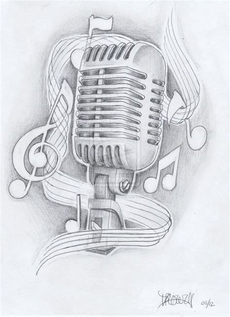 old school microphone tattoo designs microphone with lyrics căutare pt tatuaje