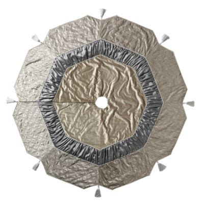 silver velvet tree skirt xmas pretties pinterest