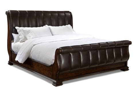 Leather Sleigh Bed Legacy Classic Leather Sleigh Bedroom Set