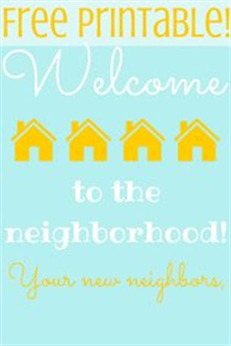 1000 Images About Neighborly On Pinterest Neighbor Gifts Your Neighbors And Free Printable Welcome To The Neighborhood Card Template