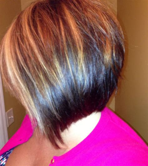 bob cut hairstyles with highlights angled bob with highlights hair and makeup pinterest