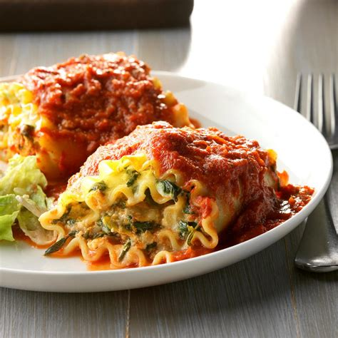 Todays Special Mexican Style Lasagna by Spinach Lasagna Roll Ups Recipe Taste Of Home