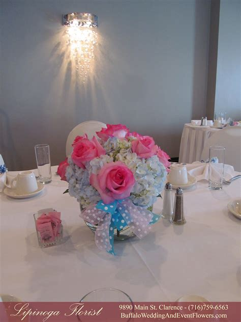baby shower centerpieces with flowers baby shower centerpiece buffalo wedding event flowers