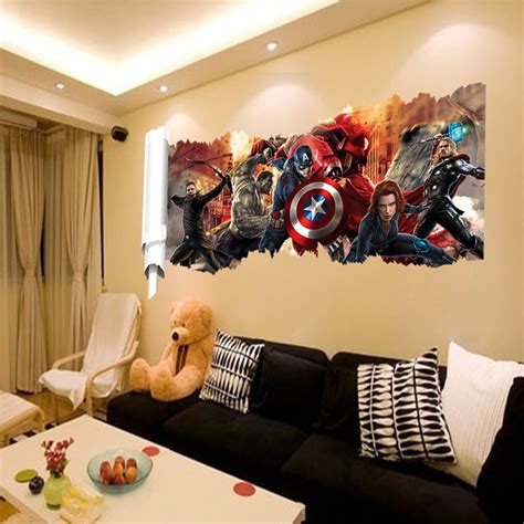 home decor childrens room aliexpress com buy marvel s the avengers wall sticker