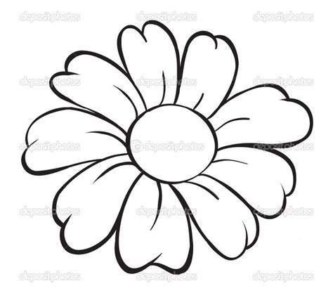 really easy coloring pages flower drawing easy simple flower drawing how to draw