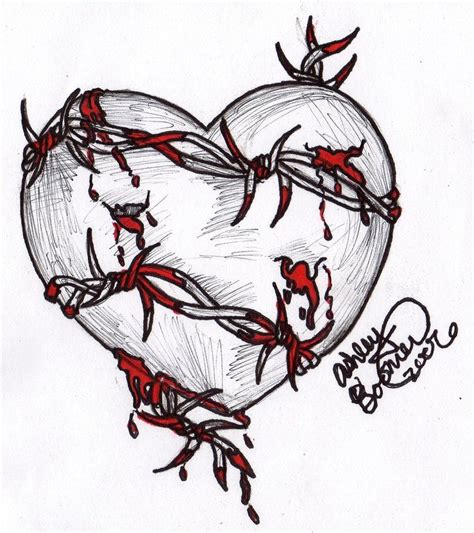 barbed wire heart tattoo designs the title gives it away it s just a with barbed