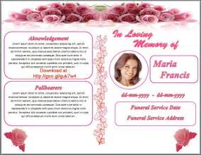 free printable funeral programs templates free funeral program templates