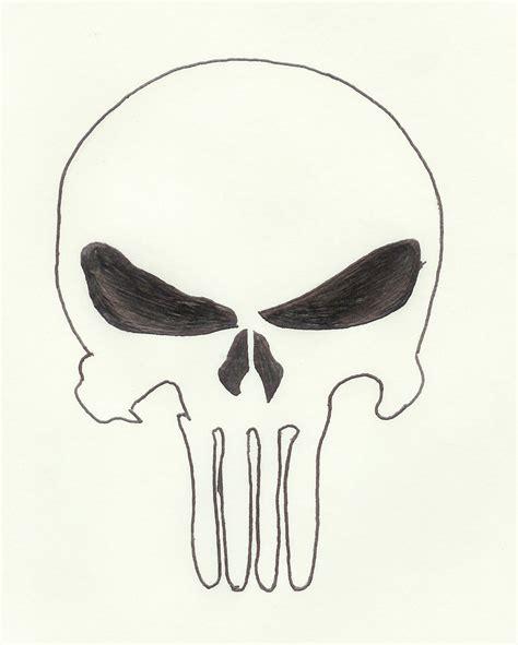 simple skull tattoo design punisher skull by perry666 on deviantart