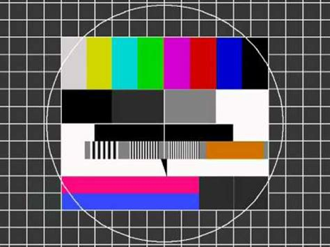 photography test pattern tv monitor test card youtube