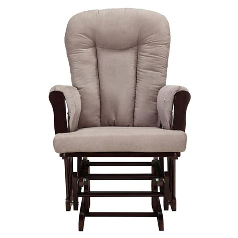 Glider Rocker And Ottoman Set Glider Rocking Chair And Ottoman Set In Espresso And Gray Da4041r Dc
