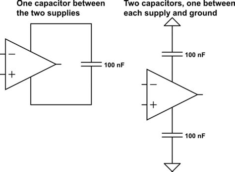 bypass capacitor purpose op do op s need one bypass capacitor or two electrical engineering stack exchange